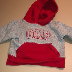 Gap Grey and Red hoodie sweater